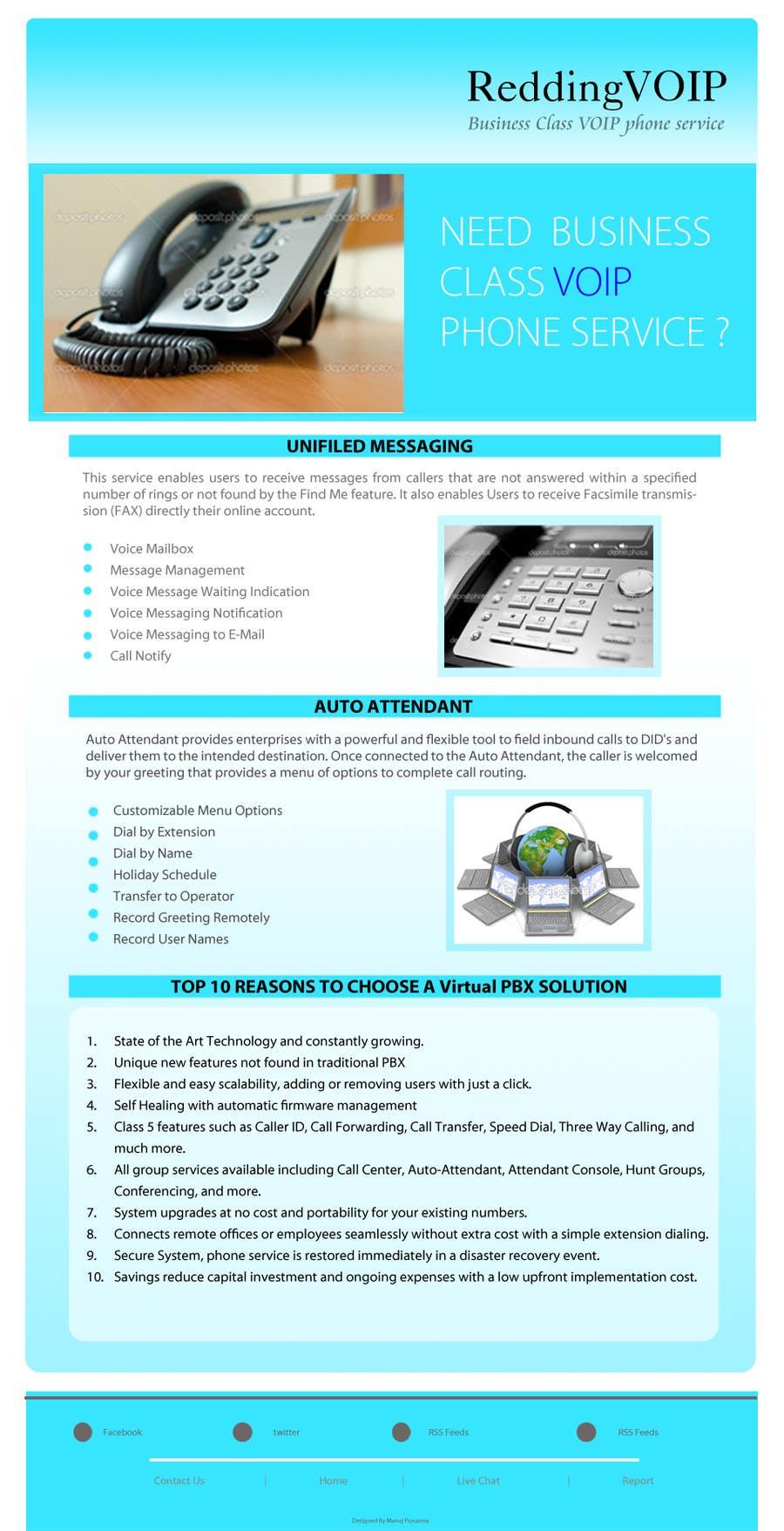 Inscrição nº                                         3                                      do Concurso para                                         Graphic Design for Business VOIP Single Page Site