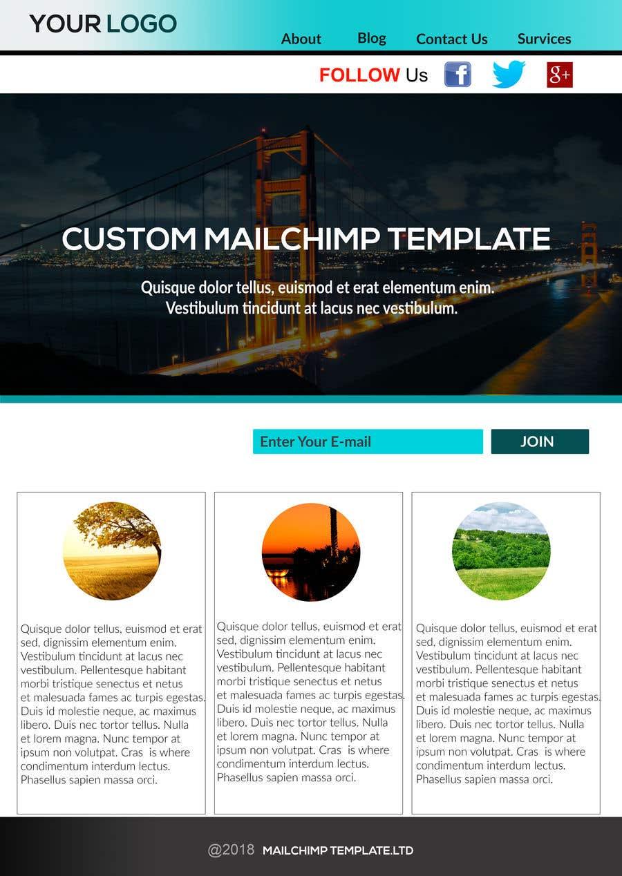 Entry 6 By Shovonbd321 For Design Mailchimp Templates Freelancer