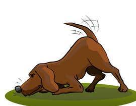 #56 cho Cartoon dog drawing - Vector bởi ToaMota