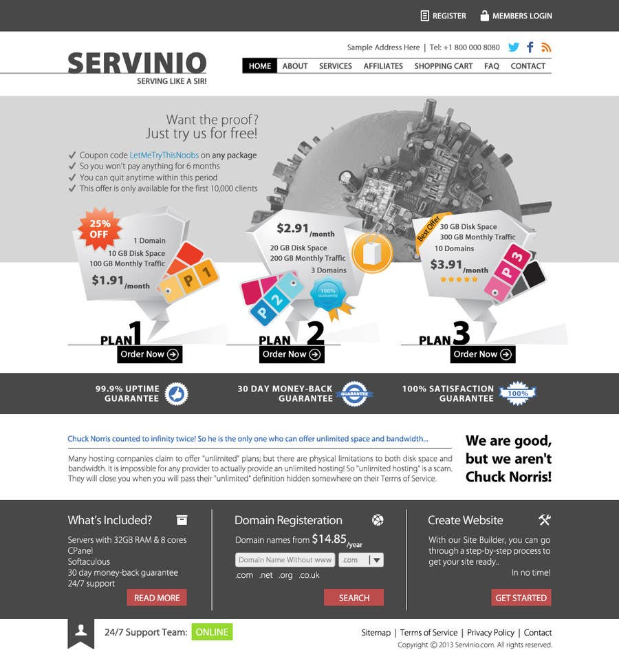 #8 for Website Design for servinio by halfadrenalin