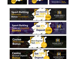 #6 for Banner design for soccer betting , casino and gambling website by jiparvej95