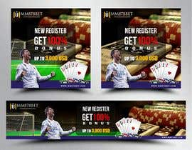 #21 for Banner design for soccer betting , casino and gambling website by cahkuli