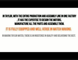 #1 Watch manufacturing motion graphic részére genji0 által