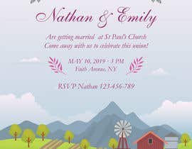 Nro 22 kilpailuun Design wedding invitation for a farm themed wedding käyttäjältä ruzenmhj