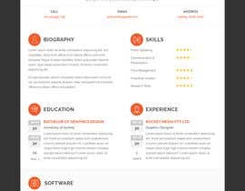 Design Resume Templates with Css Html | Freelancer