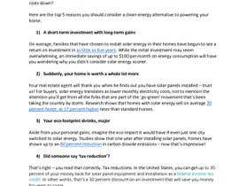#4 for Write a Blog Post for a Renewable Energy Company by rosalindtoews