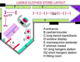 #16 for Design interior furniture layout for ladies clothes store by sonnybautista143