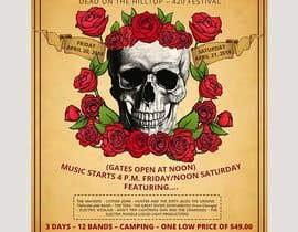 Nambari 76 ya 420 Deadhead Concert Poster design needed na satishandsurabhi