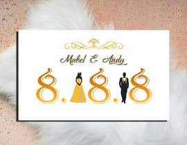 #32 for Design a Logo for a wedding invitation by zahra0501