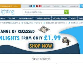 #50 para Design a stunning website banner to promote our range of downlights de aalimp