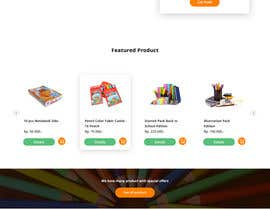 #19 for Mockup landing page for school supplies by bimaptra30