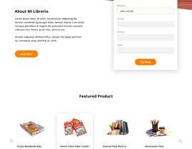#20 for Mockup landing page for school supplies by bimaptra30