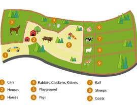 Nambari 6 ya Make a friendly map of a petting zoo na colorss