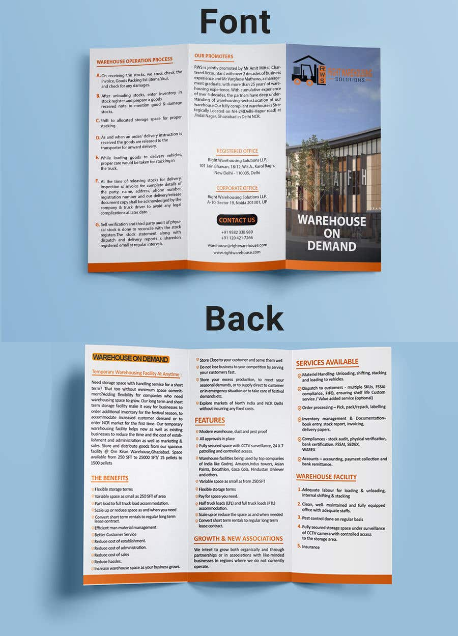 2 Page Brochure >> Entry 7 By Mdtafsirkhan75 For 1 Page Flyer And 4 Page