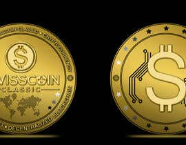 #43 for Design for a modern crypto coin the front and back in 3D. by bibaaboel3enin