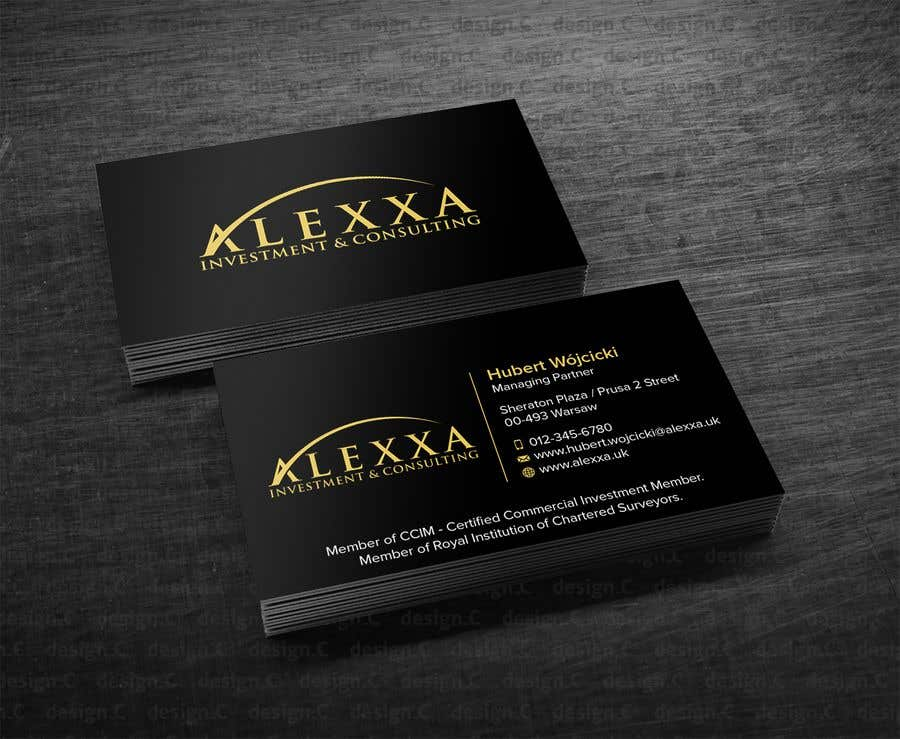 Entry #3 by GabrielLOGO for Design Business Cards for premium wealth ...