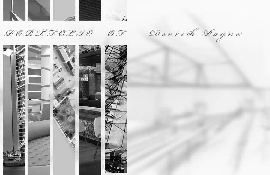 entry 7 by tonyirej for a cover page for an architectural portfolio