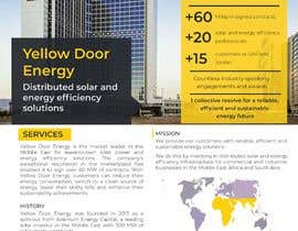 #35 for Design corporate brochure for a solar and energy company by stylishwork
