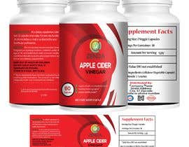 #37 for Design Label (and 3D Renders) for Supplement Bottle by Mahbub33