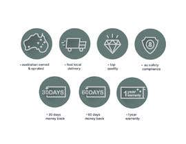 #29 for Design a set of 6 simple icons for my eCommerce by sagarjadeja