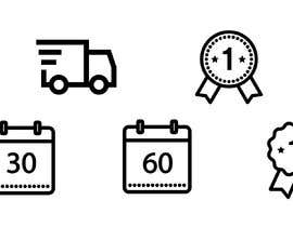 #19 for Design a set of 6 simple icons for my eCommerce by alfonsoverlezza