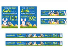 #53 for Set of Banners Needed to Promote Huge Easter Sale by owlionz786