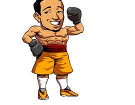 "#25 for Design an Asian Boxer Cartoon Character with 4 different punching actions/posts all in full body. (*Suggest to best use ""Srisaket Sor Rungvisai"" as the referral for the character) by RakintorWorld"