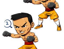 "#35 for Design an Asian Boxer Cartoon Character with 4 different punching actions/posts all in full body. (*Suggest to best use ""Srisaket Sor Rungvisai"" as the referral for the character) by RakintorWorld"