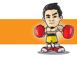 "#62 for Design an Asian Boxer Cartoon Character with 4 different punching actions/posts all in full body. (*Suggest to best use ""Srisaket Sor Rungvisai"" as the referral for the character) by MyPrints"