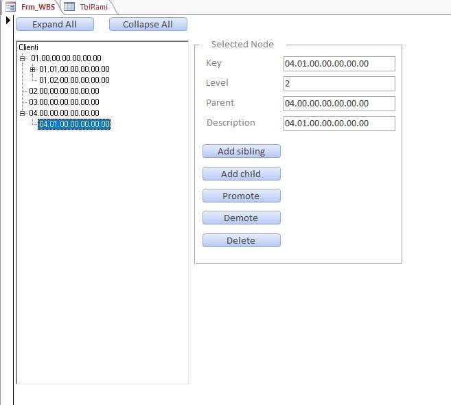 Bài tham dự cuộc thi #7 cho In MS Access Create a Form and Table that will allow the User to Create a Work Breakdown Structure (Tree)