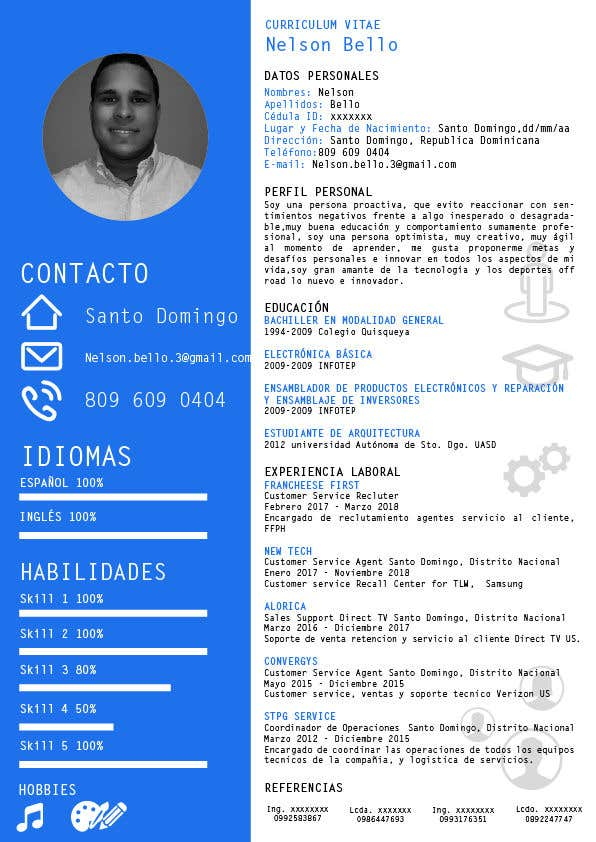 Entry 21 By Ufomedia For Resume Desing Freelancer