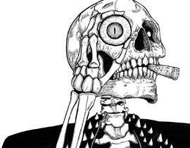 #53 for Illustrate a Skull with a Detail by Zhemka