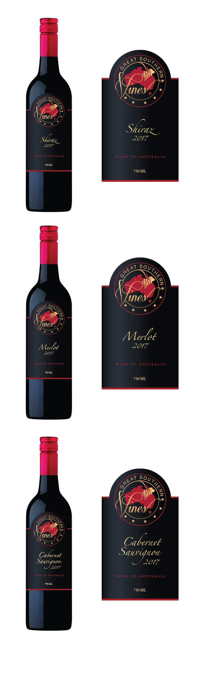 Contest Entry #                                        12                                      for                                         Design our wine label using our logo