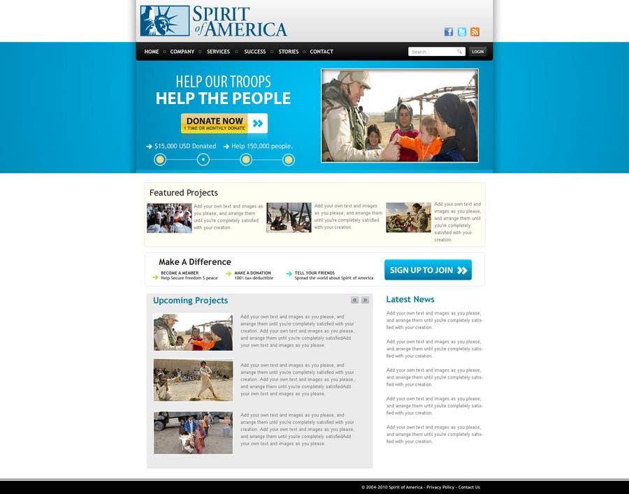 Participación en el concurso Nro.                                        11                                      para                                         Website Design for Spirit of America