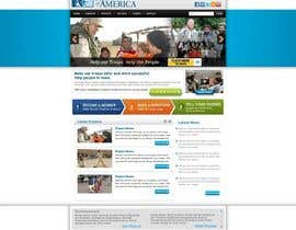 #34 para Website Design for Spirit of America de gaf001
