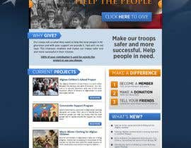#30 para Website Design for Spirit of America de firethreedesigns