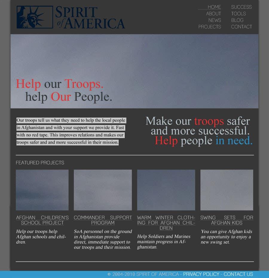 Конкурсная заявка №7 для Website Design for Spirit of America