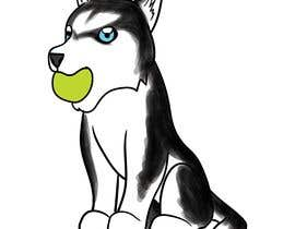 #24 dla Artist create original Siberian Husky Puppy Cartoon Character for Large sticker pack przez shinanomiyazawa