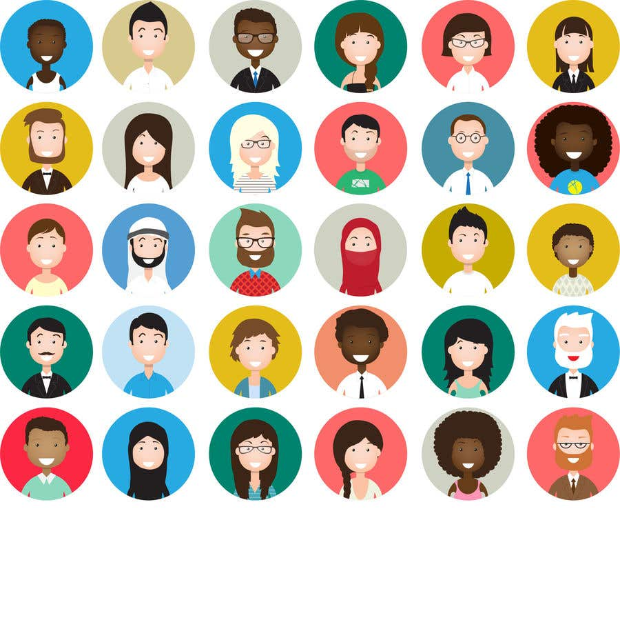 Contest Entry #1 for Simply extract each avatar from EPS file to individual SVG files.