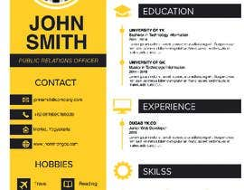 #2 for Create an infographic CV by Slimshafin