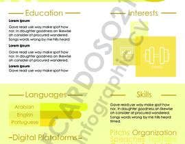#6 for Create an infographic CV by FCardoso21