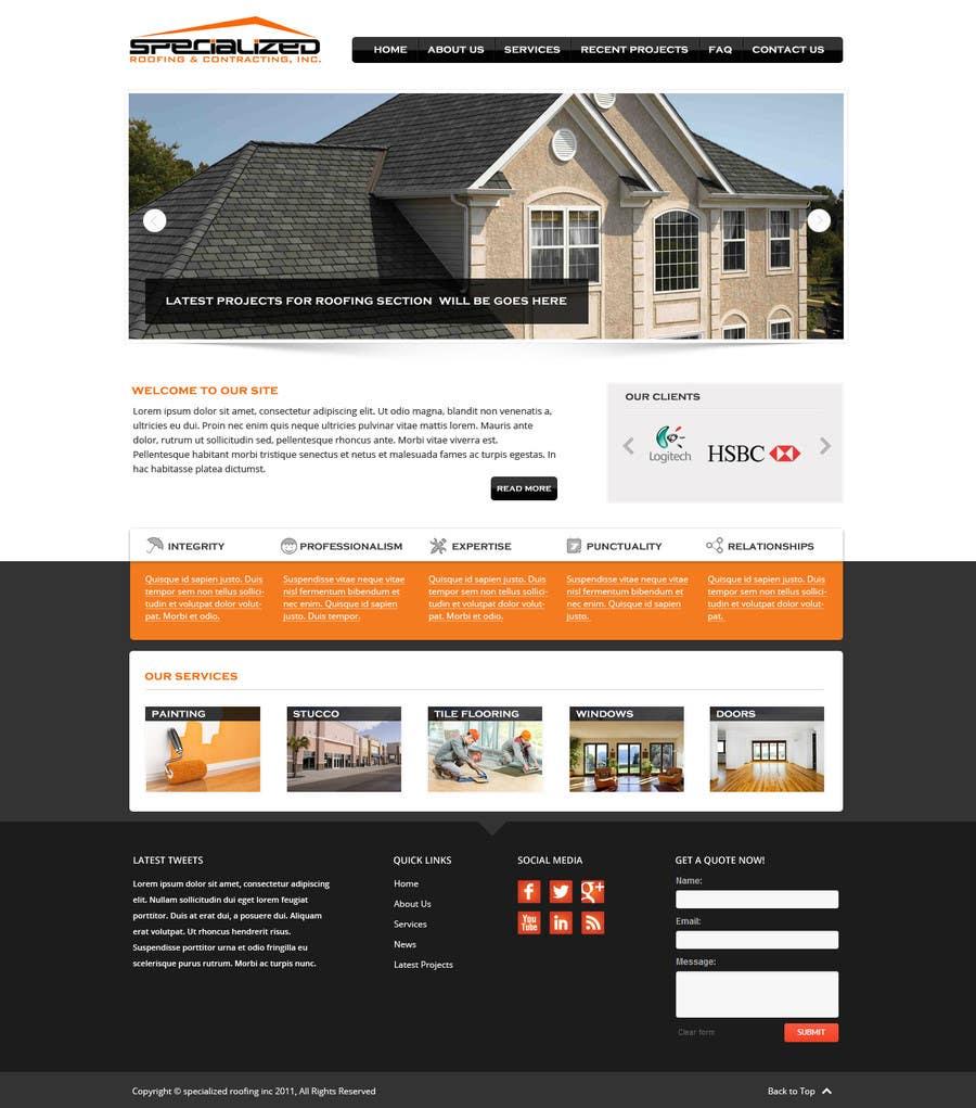 Inscrição nº                                         2                                      do Concurso para                                         Wordpress Theme Design for Specialized Roofing & Contracting Inc.
