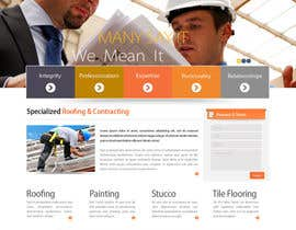 #18 para Wordpress Theme Design for Specialized Roofing & Contracting Inc. por datagrabbers