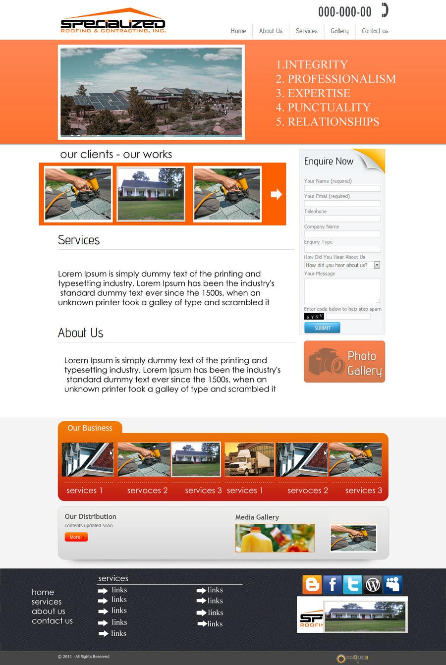 Bài tham dự cuộc thi #                                        7                                      cho                                         Wordpress Theme Design for Specialized Roofing & Contracting Inc.