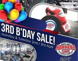 #32 for Hammer's Gym 3rd Birthday Sale by wawancreat
