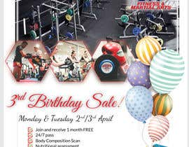 #55 for Hammer's Gym 3rd Birthday Sale by shohan33