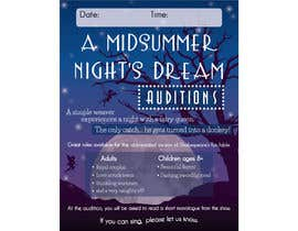 #32 for Midsummer Night's Dream Audition flyer by nicoleplante7