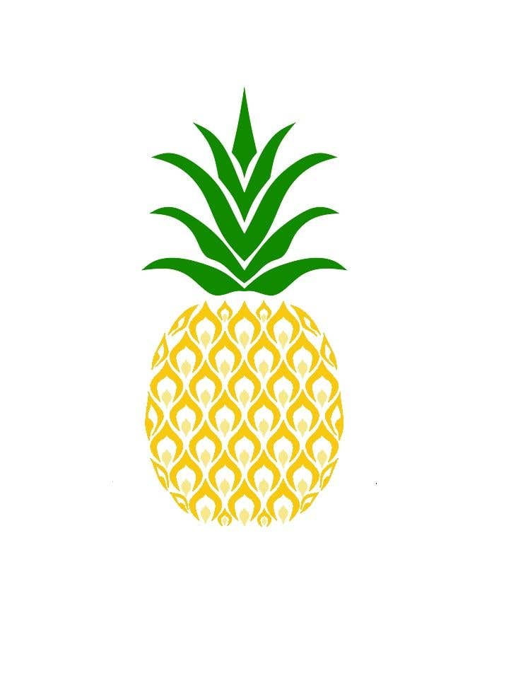 Contest Entry #24 for I need you to make a simple design of a pineapple. It doesnt really need to much detail. Just have a yellow pineapple with a green top (leaves).
