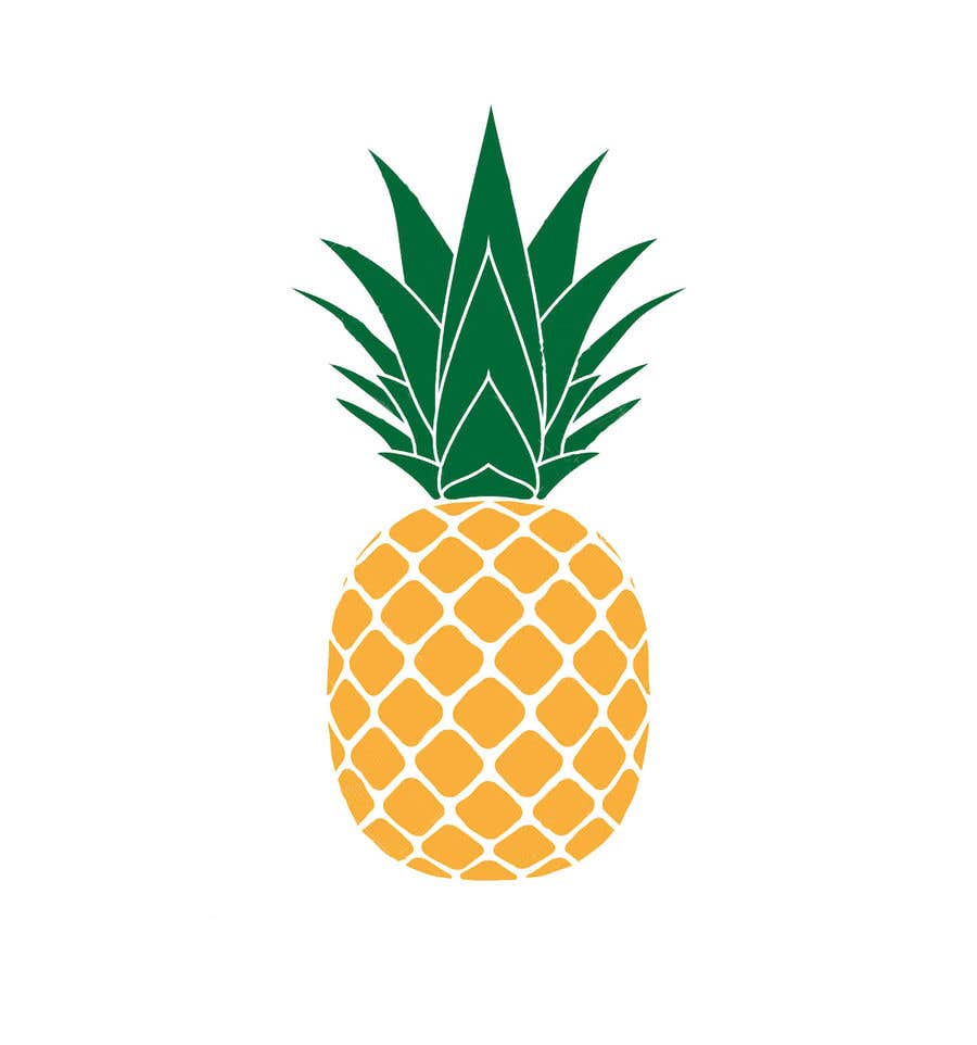 Contest Entry #21 for I need you to make a simple design of a pineapple. It doesnt really need to much detail. Just have a yellow pineapple with a green top (leaves).