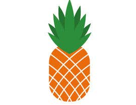 #7 for I need you to make a simple design of a pineapple. It doesnt really need to much detail. Just have a yellow pineapple with a green top (leaves). by hafsashahw